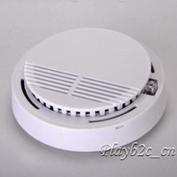 Smoke Detectors   Home Security Fire Alarm Sensor System Wireless Smoke Detector Cordless White cc40