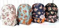 Backpack Style pocket books - Backpack Style Women girl lady Fashion Vintage Cute Flower School Book Campus Bag Backpack the Knapsack Rucksack