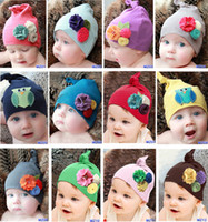 Wholesale 10 New Baby Girl Boy Toddler Cotton Flower Owl Hat Headwear for New Born to year old