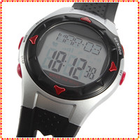 Unisex battery health monitor - 10pcs waterproof digital heart rate wrist watch Calorie Counter Pulse Monitor after sports test health