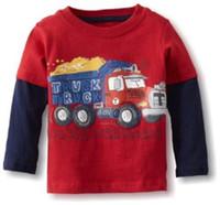 Wholesale Cotton Children s Tee Shirts girl s long sleeve tops Boys T shirts ZLM138H