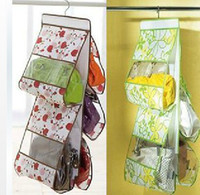 Wholesale Large Clear Women Tidy Home Purses Handbag Hanging Storage Organizer Bag Closet