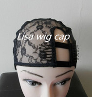 Wholesale High quality adjustable right u part wig cap with comb french lace wig making caps black color price