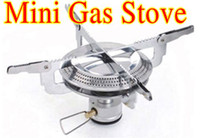 Wholesale Portable Tiny Titanium Gas stove W Fire Maple Camping Cooking Tool furnace cookware outdoor BBQ Burner with bags