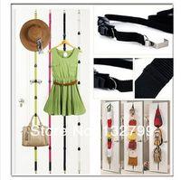 Wholesale 8 Hooks Adjustable Strap Hanger Hat Bag Clothes Rack Holder Organizer Over Door