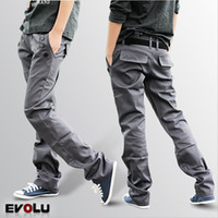 Wholesale New autumn summer hip hop fashion brand designer casual dark color men s jeans cargo back pockets outdoors Dual Belt