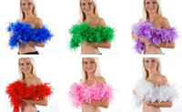 Wholesale 20Pcs Chicken Feather Strip Wedding Marabou Feather Boa Scarf Colors