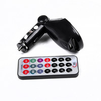 Wholesale Brand new Car kit MP3 Foldable FM Transmitter for SD MMC USB CD