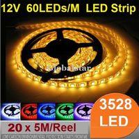 Wholesale M Non Waterproof M Reel SMD LEDs M Flexible Ribbon LED Strip Light Red Green Blue Yellow white RGB