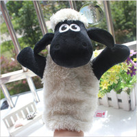 Wholesale Shaun Sheep On Sale Hot Cute Cartoon Plush Adult Hand Finger Glove Puppet Dolls Toy Best Christmas Education Gift For Kids Length CM
