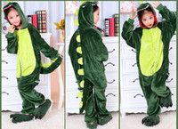 Wholesale Cartoon Animal Dinosaur Children Kids Onesies Onesie Pajamas Kigurumi Jumpsuit Hoodies Sleepwear For Children Welcome Order