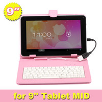 Wholesale Multi Colosr Faux Inch PU Leather USB Keyboard Stand Cover Case Micro USB For Inch Tablet PC MID ePad