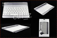 9.7'' aluminum keyboard stand - wireless bluetooth Aluminum keyboard case For ipad air with stand keyboard cases white black also fit ipad