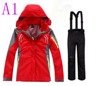 Wholesale women in1 winter waterproof windproof hiking camping outdoor suit jacket pants ski suit outdoor clothes outerwear