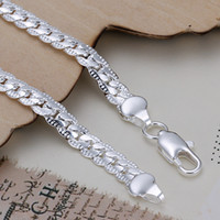Wholesale Men s mm cm sterling silver chains bracelet bangle H199 Christmas gift