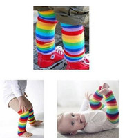Wholesale New Colorful striped socks Baby Child Toddler Leg Warmers Rainbow sock pairs