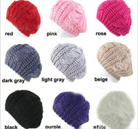 berets - Ladies knitted hat childrens crochet hat New women s beret hat lady Twist wool knitted caps fashion winter warmer woollen hat christmas hat