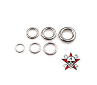 Wholesale Seamless L medical stainless steel all purpose rings nipple ring vulvae ring nose ring earring lip ring PA ring different size mix order