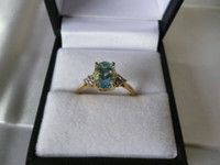 Wholesale 9ct Gold Blue Topaz amp Diamond Ring
