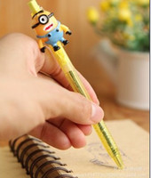 Wholesale Despicable me Minions Styles Ballpen Pen Blue Refill Cute Cartoon Stationery Retail