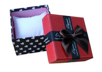 Wholesale 100pcs Watches Box paper Watch Box Packing with Pillow Paper Bowknot Gift Boxes Case Jewelry Box edison2011