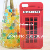 Wholesale For iphone s design telephone booth case for iphone s cell phone cases covers to iphon4