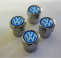 Wholesale Hot Sale Alloy Car Wheel Tyre Valve Dust Cap Caps Covers Tire badge logo for VW VolksWagen sets