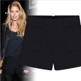 Wholesale 2013 Autumn New Arrival Women s Fashion Classic Front Pockets Hidden Zipper Back Thick Autumn Shorts