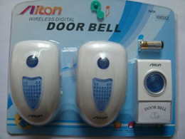 Wholesale AC Wireless door bell Chime for home Shop Superstore hotel v003A2 tunes V V in retail package dropshipping