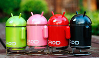 Wholesale WL SP Collectibles Mini Google Android Robot Speaker w FM support Micro SD Card