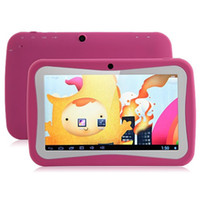 Wholesale Chirstmas Gift Kid Educational Tablet PC Inch Screen Android Allwinner A13 Ghz GB Dual Camera WIFI Parental Control Kid Mode DHL