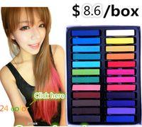 Wholesale Colors set Fast Non toxic Temporary Pastel Hair Dye Color Chalk hair color pastel pen