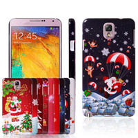 Wholesale Christmas Xmas tree Colorful Pattern Painting Hard Plastic Cover Protection case for Samsung Galaxy note Note3 III N9000 Christmas Gift