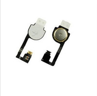 Wholesale Fast Shipping Home Button Flex Cable With Key Cap assembly for iPhone G S Replacement Parts