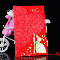 Wholesale High end invitations Printed roses invitations Wedding invitations per pack