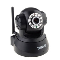 Wholesale Black Tenvis W Wireless WIFI IP Camera Network Security Night Vision Pan Tilt CCTV Web