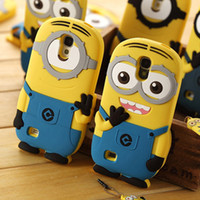Best 20pc 3D Cute Despicable Me minions Soft Silicone rubber case cover skin cases for Samsung Galaxy N9000 S4 i9500 S3 i9300 Note 2 3 #C64