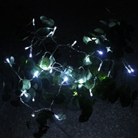 Wholesale White color Battery Operated LED M String Lights for XMAS Christmas Fairy Party Wedding Yard Camping Pocket Decorative lantern festival