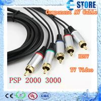 Cable de componente video audio del envío del sistema de pesos americano libre de HDTV TV para Sony PSP delgado 2000 3000, wu