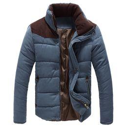 Wholesale Men s Winter Warm Thermal Wadded Jacket Cotton Padded Coat Winter Slim MWM169