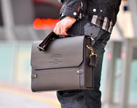 Wholesale HOT Men s Shoulder Messenger Briefcase Leather Bag messenger bag