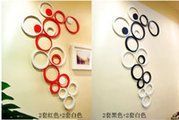 Wholesale 12 sets New Style D Wall Sticker Round Shape Home Decoration Wall Sticker Colors L381