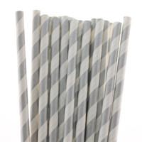 Thanksgiving Event & Party Supplies Yes 3000pcs Charming Silver Striped Paper Drinking Straws Best for Baby Shower Christmas Party Drinking Party FREE SHIPPING by DHL FEDEX EMS