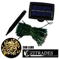Wholesale ZITRADES Waterproof FT LED Modes Warm White Solar Fairy String Lights for outdoor gardens homes Christmas party