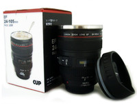 cup - Hot Generation stainless steel liner travel thermal Coffee camera lens mug cup ML Black by Fedex