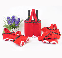 Wholesale New Year Items Christmas Wine Bags Cm Red Handbag Christmas Decorations Cheap Sale