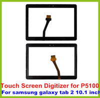 Wholesale 20pcs High Quality For Samsung P5100 Touch Screen Digitizer for Samsung Galaxy Tab P5100 Black White Color Free DHL