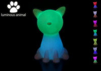 animal lamps for kids - Rainbow Colorful Big Cat LED night light lamp for kids cat Night Lamp for Children Christmas Gift wholesales