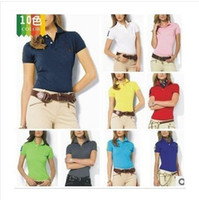 Wholesale Women Short Sleeve POLO Shirt Women Leisure Shirt Women Fashion Shirt Casual T Shirt Embroidery Brand Logo