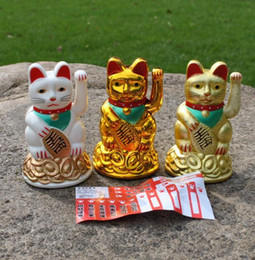 Maneki Neko Lucky cat Chinese Feng Shui Waving Wealth Fortune Cat Waving hand Cat animal cats cartoon store home decoration Christmas gift